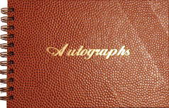 autograph book with textured cover