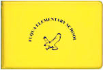yellow vinyl autograph book with bird motif